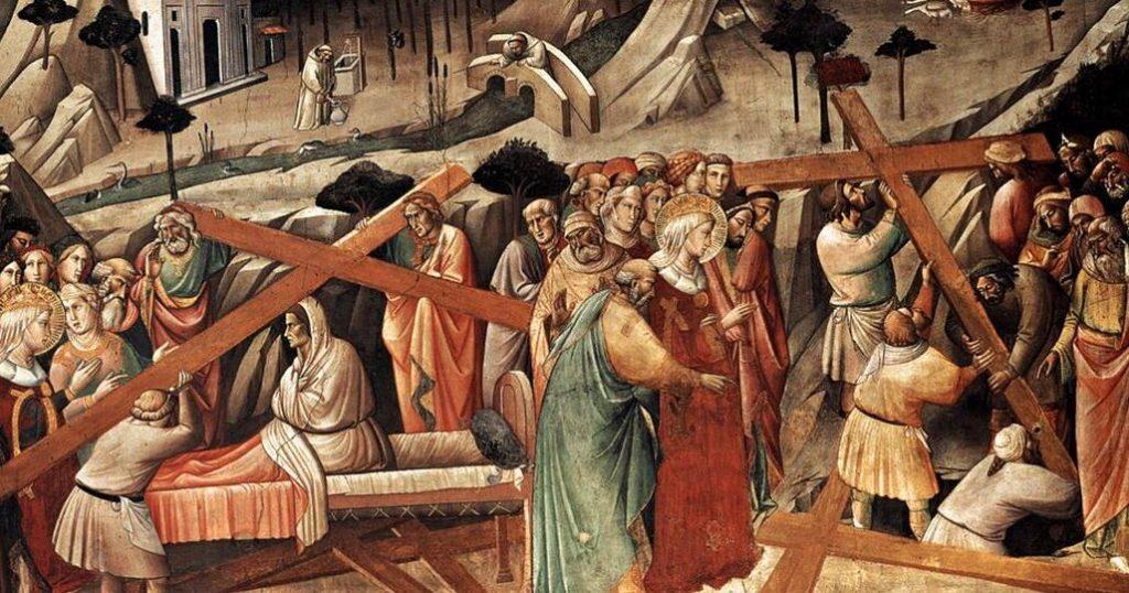 Обретение Креста, картина Аньоло Гадди