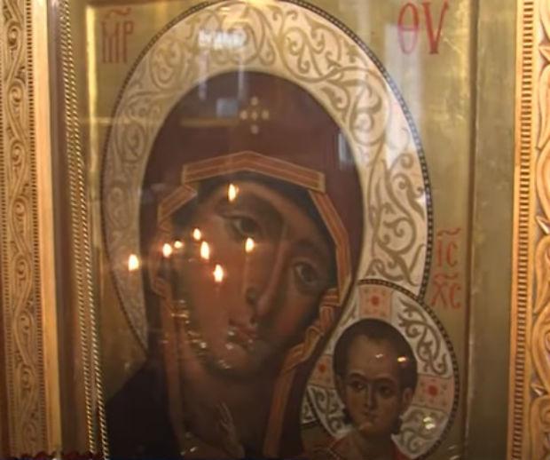 Фото: образ Казанской Божией Матери, написанный архимандритом Зеноном Теодором