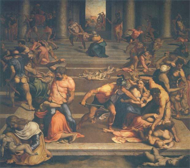 Избиение (убиение) младенцев в Вифлееме, фрагмент картины