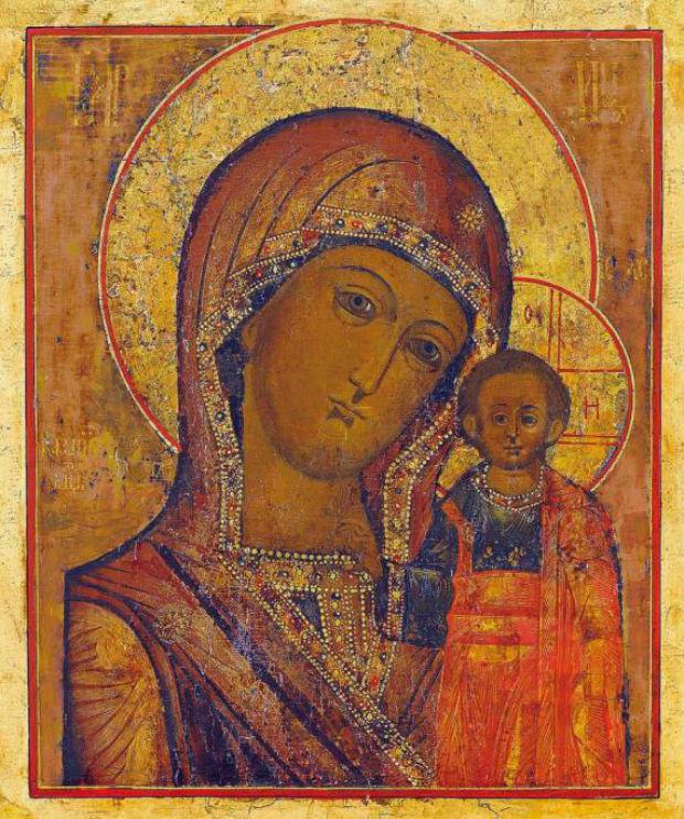Фото: Казанская Матерь Божья, иконография