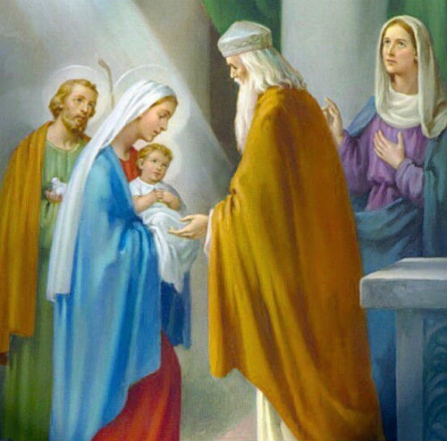 Богородица и Симеон