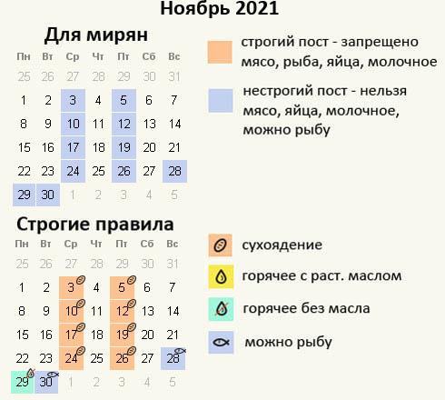Ноябрь- календарь