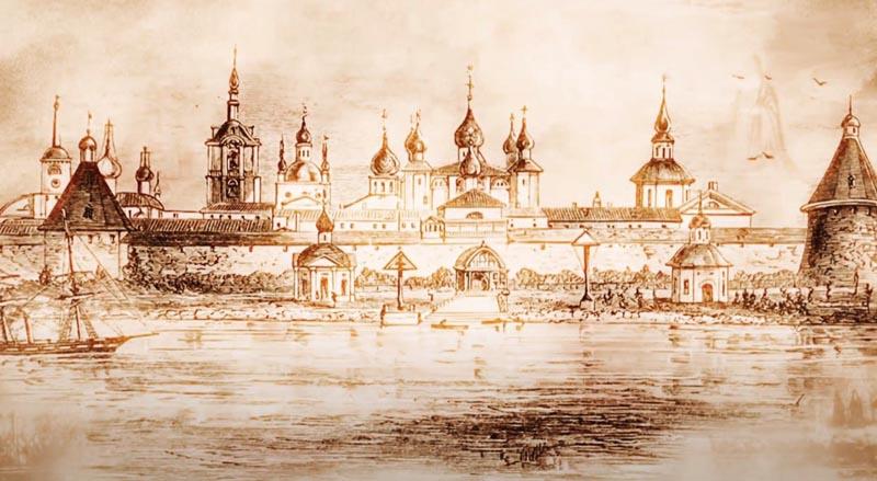 Рисунок Донской монастырь